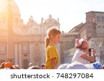 vatican city  rome  italy  may... | Shutterstock . vector #748297084