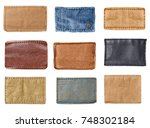 collection of various  jeans... | Shutterstock . vector #748302184