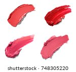 collection of various lipstick... | Shutterstock . vector #748305220