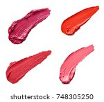 collection of various lipstick... | Shutterstock . vector #748305250