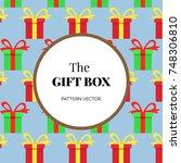 gift box object pattern   Shutterstock .eps vector #748306810