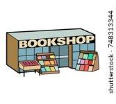 cartoon vector icon of a... | Shutterstock .eps vector #748313344