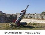 cuba. havana. fortress morro ... | Shutterstock . vector #748321789
