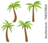 set of four different cartoon... | Shutterstock . vector #748325803