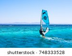 dahab  egypt   november 1  2017 ... | Shutterstock . vector #748333528