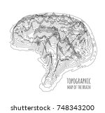 the brain in the form of a... | Shutterstock .eps vector #748343200