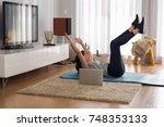 full length shot of a woman...   Shutterstock . vector #748353133