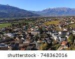 aerial view of vaduz  the... | Shutterstock . vector #748362016