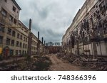 Apocalyptic Concept  Ruins Of...