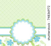 template cards for the boy ... | Shutterstock .eps vector #74836972