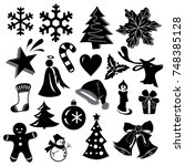 beautiful christmas icons in...