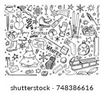 set of vector icons drawing...   Shutterstock .eps vector #748386616
