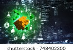 conceptual background image... | Shutterstock . vector #748402300