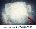 close of businesswoman making... | Shutterstock . vector #748403530