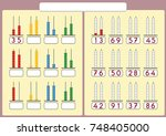 kids learn numbers with abacus  ... | Shutterstock .eps vector #748405000