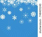 winter background with figure... | Shutterstock .eps vector #748405240