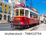 lisbon  portugal   june 12 ... | Shutterstock . vector #748413754