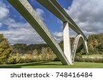 double arch bridge at natchez... | Shutterstock . vector #748416484