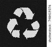 recycle logo with effect black... | Shutterstock . vector #748419376