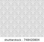 elegant japanese vector floral... | Shutterstock .eps vector #748420804