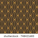vector illustration of leaves... | Shutterstock .eps vector #748421683