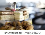 decadent high tea tier | Shutterstock . vector #748434670
