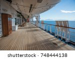 noordam cruise ship deck with... | Shutterstock . vector #748444138
