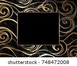 jeweled  golden marine... | Shutterstock .eps vector #748472008