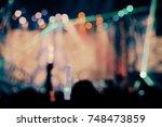 Defocused entertainment concert ...