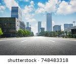 modern cityscape | Shutterstock . vector #748483318