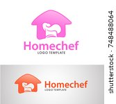 home chef logo template with... | Shutterstock .eps vector #748488064