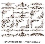 vintage ornaments design... | Shutterstock .eps vector #748488619