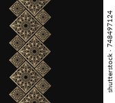 golden frame in oriental style. ... | Shutterstock .eps vector #748497124