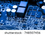 abstract close up of circuits...   Shutterstock . vector #748507456