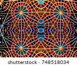 eastern mosaic. patterns and... | Shutterstock . vector #748518034