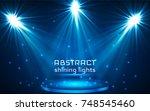 stage spot lighting. magic... | Shutterstock .eps vector #748545460