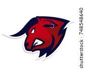 bull head mascot logo   Shutterstock .eps vector #748548640