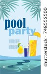 pool party  vertical images ...   Shutterstock .eps vector #748553500