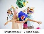 teens birthday party | Shutterstock . vector #748555303