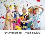 teens birthday party | Shutterstock . vector #748555309