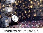 happy new year 2018 | Shutterstock . vector #748564714