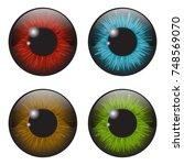 iris eye realistic  vector set ...   Shutterstock .eps vector #748569070