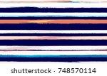watercolor striped fashion... | Shutterstock .eps vector #748570114