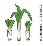 leek cartoon vector   Shutterstock .eps vector #748570978