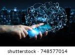 businessman on blurred...   Shutterstock . vector #748577014