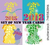 happy new year 2018 background...   Shutterstock .eps vector #748582846