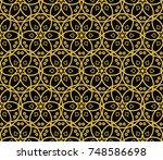 geometric shape abstract  ... | Shutterstock . vector #748586698