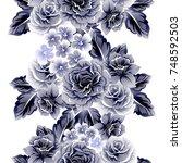 abstract elegance seamless... | Shutterstock .eps vector #748592503