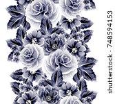 abstract elegance seamless... | Shutterstock .eps vector #748594153