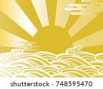 the first sunrise in japan | Shutterstock .eps vector #748595470